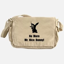 No More Nice Bunny Messenger Bag