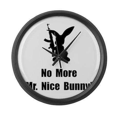 No More Nice Bunny Large Wall Clock