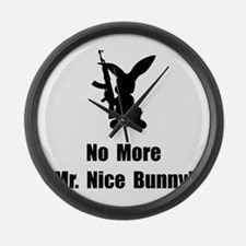 No More Nice Bunny Large Wall Clock