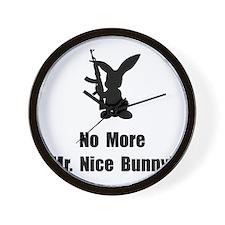 No More Nice Bunny Wall Clock