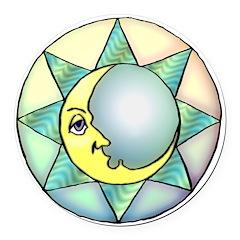 celestial moon.jpg Round Car Magnet
