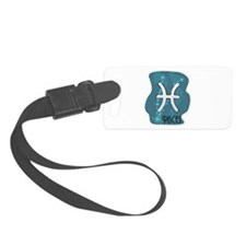Pisces Symbol in the Stars Luggage Tag