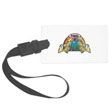 Pisces Fish with Rainbow Luggage Tag