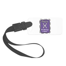 Pisces Plaque Luggage Tag