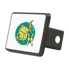 Pisces Fishy Zodiac Cartoon Hitch Cover