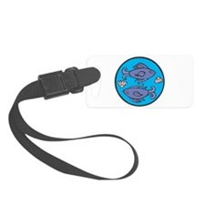 pisces circle.jpg Luggage Tag