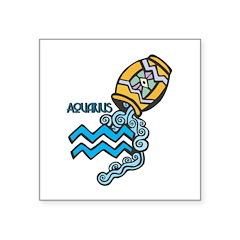 aquarius water symbol.jpg Square Sticker 3