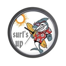 surf s up Wall Clock