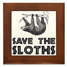 Save The Sloths Framed Tile