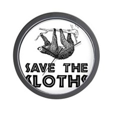 Save The Sloths Wall Clock