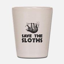 Save The Sloths Shot Glass
