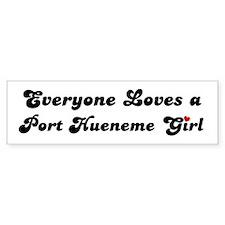 Port Hueneme girl Bumper Bumper Sticker