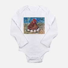 Family Nest, Chicken with eggs Long Sleeve Infant