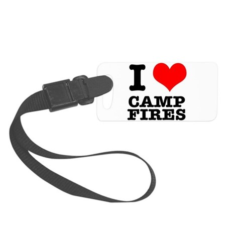 CAMP FIRES.png Small Luggage Tag