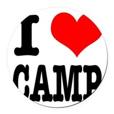 CAMP.png Round Car Magnet