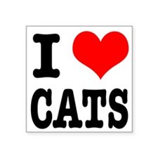 """CATS.png Square Sticker 3"""" x 3"""""""
