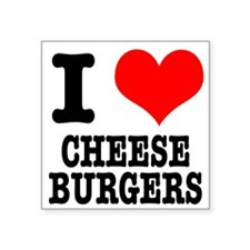 """CHEESEBURGERS.png Square Sticker 3"""" x 3"""""""