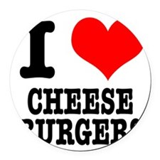 CHEESEBURGERS.png Round Car Magnet