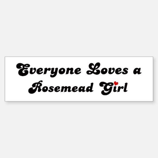 Rosemead girl Bumper Bumper Bumper Sticker