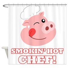 Smokin Hot Chef Shower Curtain