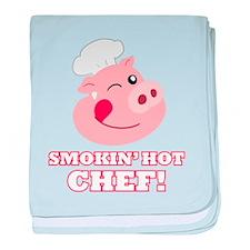 Smokin Hot Chef baby blanket
