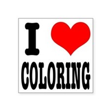 """COLORING.png Square Sticker 3"""" x 3"""""""