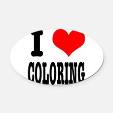 COLORING.png Oval Car Magnet