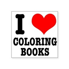 """COLORING BOOKS.png Square Sticker 3"""" x 3"""""""