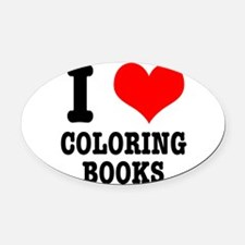 COLORING BOOKS.png Oval Car Magnet