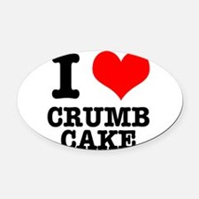 CRUMB CAKE.png Oval Car Magnet