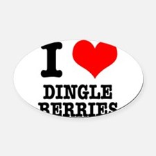 DINGLE BERRIES.png Oval Car Magnet