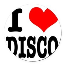 DISCO.png Round Car Magnet