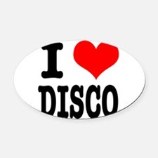 DISCO.png Oval Car Magnet
