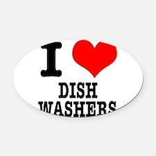 DISHWASHERS.png Oval Car Magnet