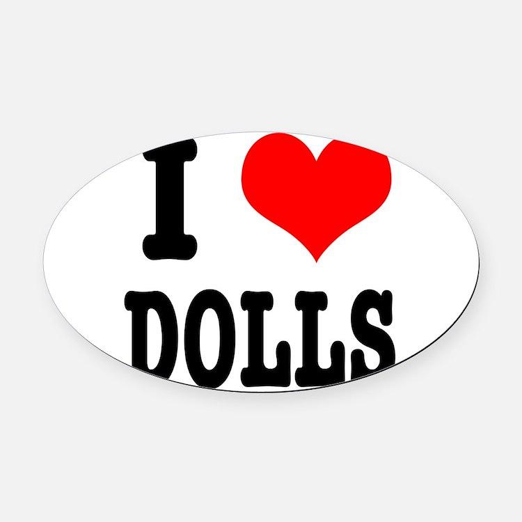 dolls.png Oval Car Magnet