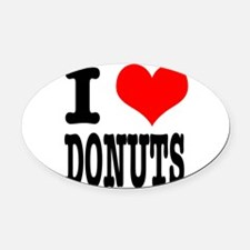 DONUTS.png Oval Car Magnet