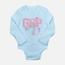 GFP initials, Pink Ribbon, Long Sleeve Infant Body