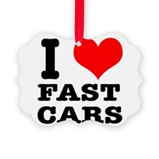 fast cars.png Ornament
