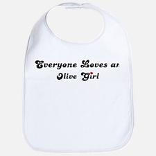 Olive girl Bib