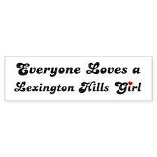 Lexington Hills girl Bumper Bumper Sticker