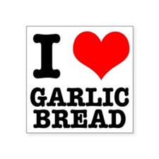 "GARLIC BREAD.png Square Sticker 3"" x 3"""