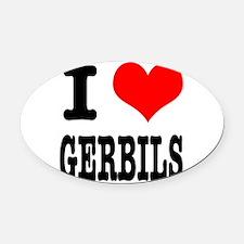 GERBILS.png Oval Car Magnet