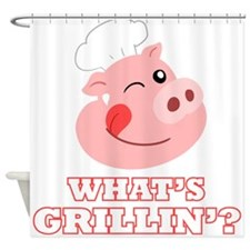 Whats Grillin? Shower Curtain