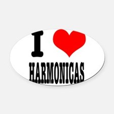HARMONICAS.png Oval Car Magnet