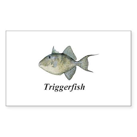 Triggerfish Sticker (Rectangle)