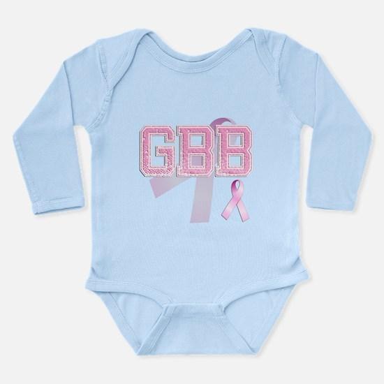 GBB initials, Pink Ribbon, Long Sleeve Infant Body