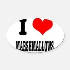 marshmallows.png Oval Car Magnet