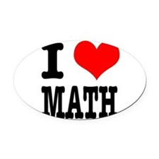 MATH.png Oval Car Magnet