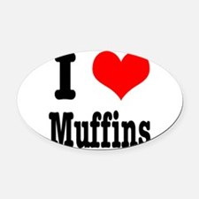 muffins.png Oval Car Magnet