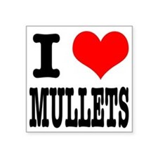 """MULLETS.png Square Sticker 3"""" x 3"""""""